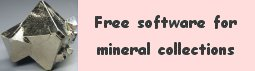 Free software for minerals collections